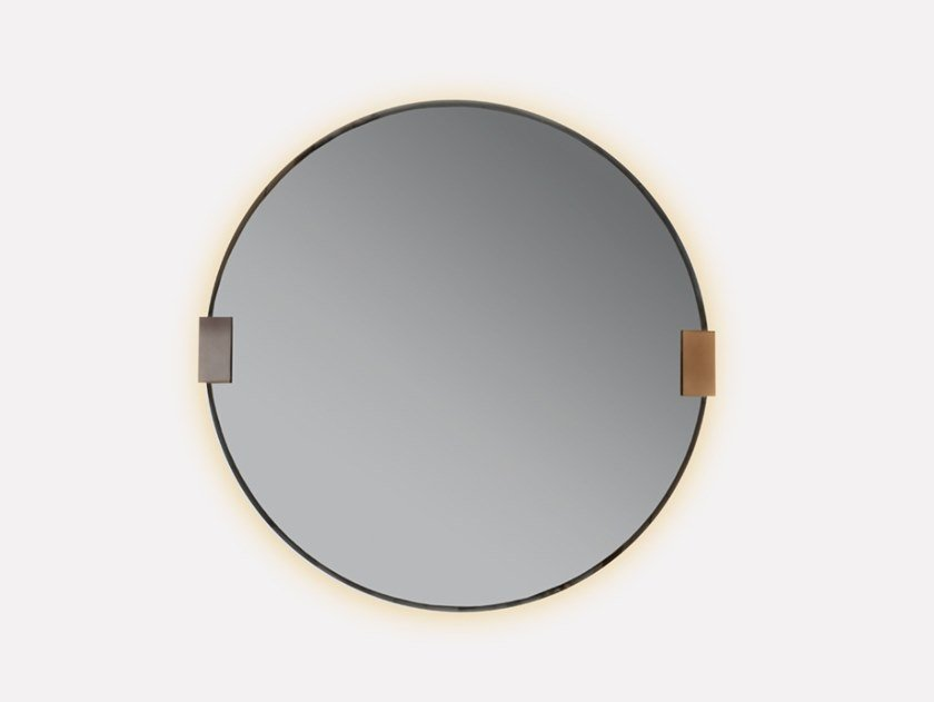 Framed wall-mounted metal mirror RONDITO | Mirror by MORADA