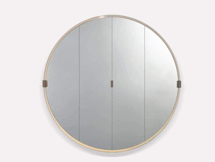 Leather mirror / bar cabinet RONDO   Bar cabinet by MORADA