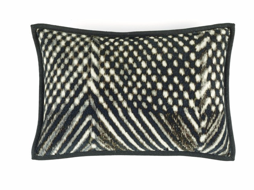 Motif rectangular cotton cushion ROOFTOP by Élitis
