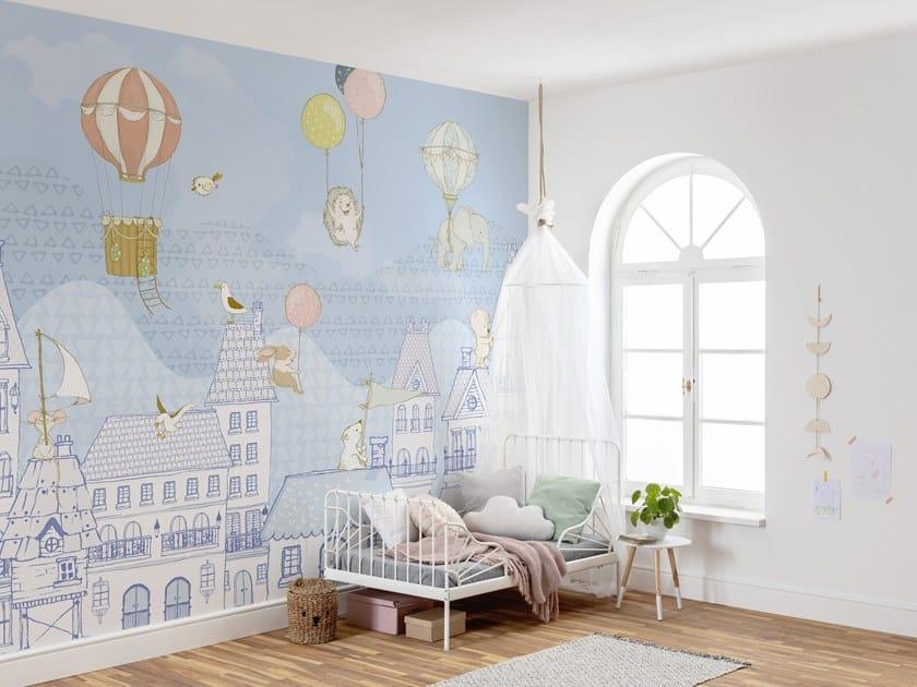 Nonwoven kids wallpaper ROOFTOP RALLEY by Komar