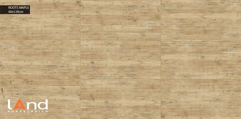 Pavimento in gres porcellanato tecnico effetto legno ROOTS MAPLE by Land Porcelanico