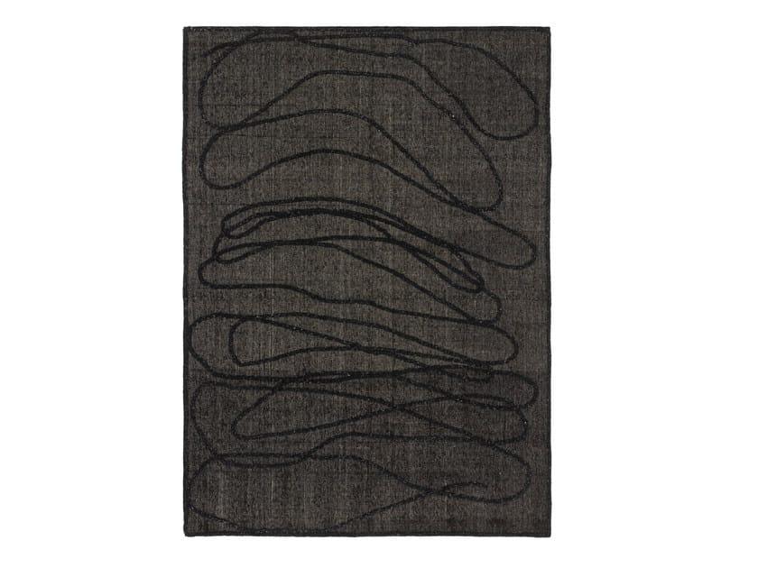 Handmade custom rug ROPE CHARCOAL by cc-tapis
