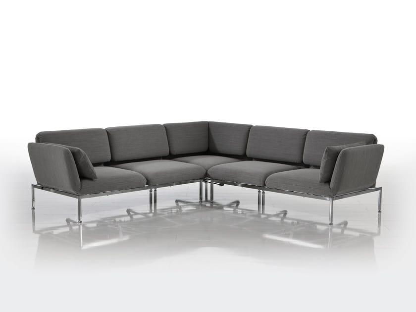 Corner convertible fabric sofa RORO | Corner sofa by brühl