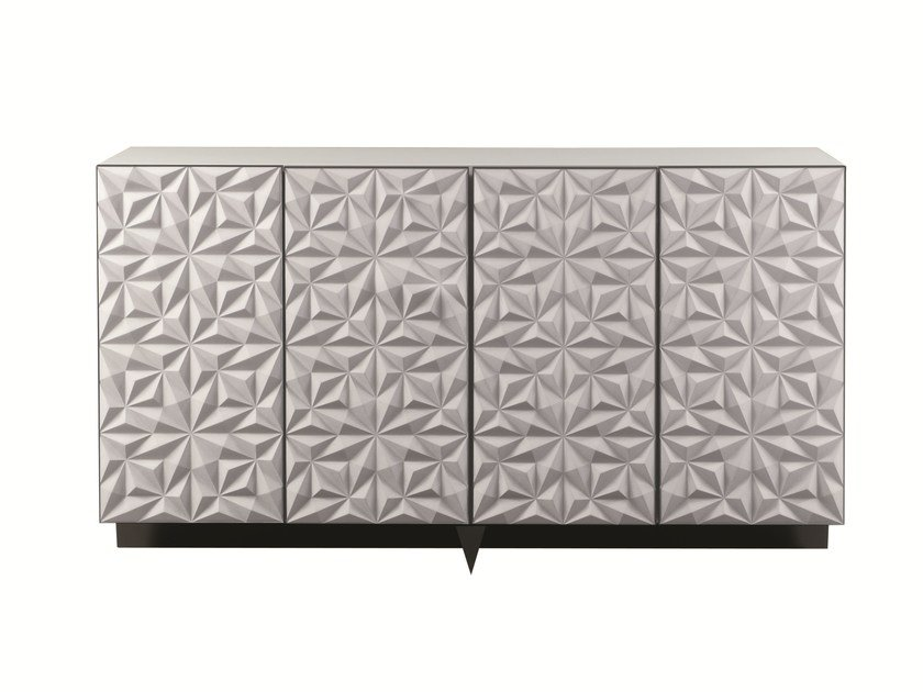 Lacquered sideboard with doors ROSACE | Sideboard by ROCHE BOBOIS