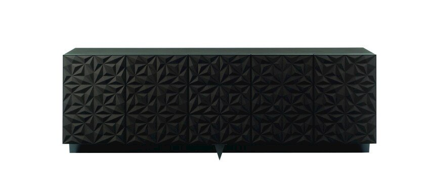 Lacquered sideboard with doors ROSACE by ROCHE BOBOIS