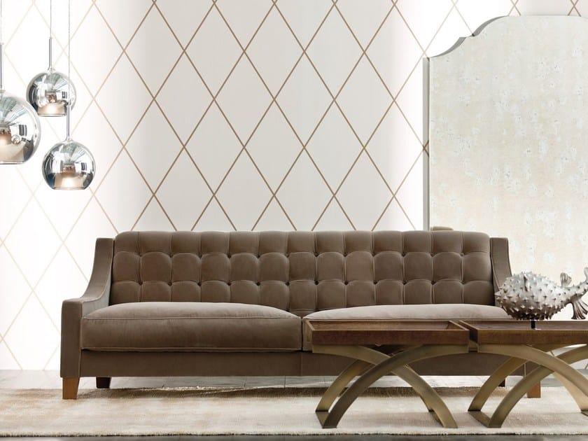 Tufted fabric sofa