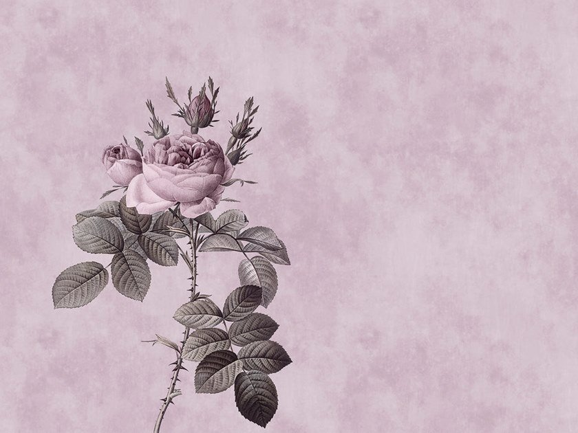 Digital printing wallpaper with floral pattern ROSE by Architects Paper