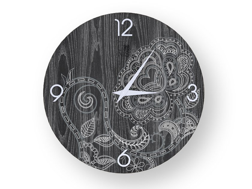 Wall-mounted wooden clock ROSE COLD | Clock by LIGNIS®