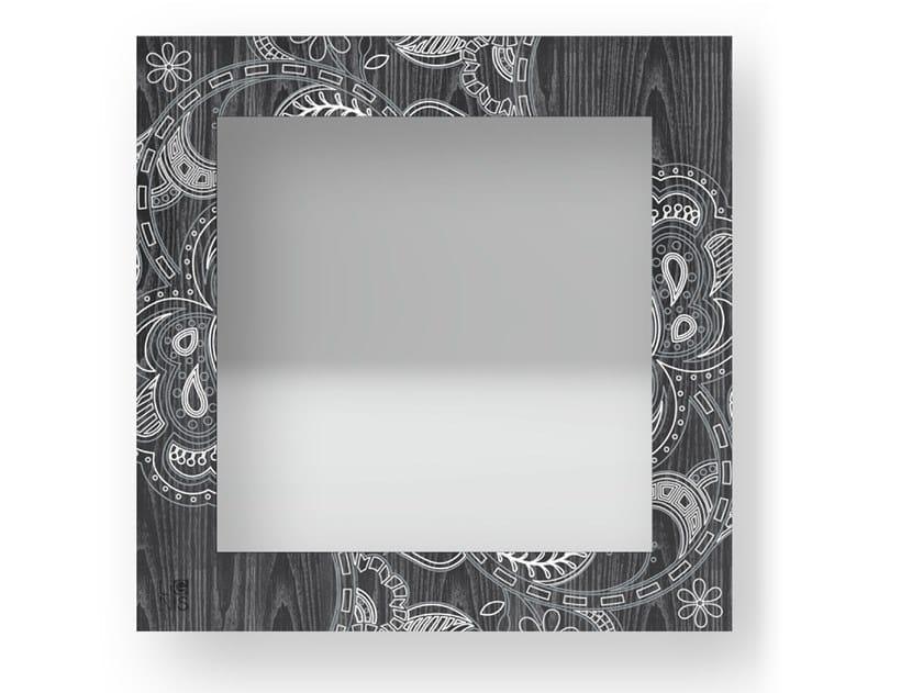 Specchio quadrato a parete con cornice ROSE COLD   Specchio by LIGNIS®