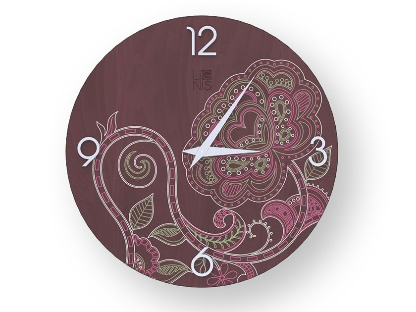 Wall-mounted wooden clock ROSE COLORS | Clock by LIGNIS®