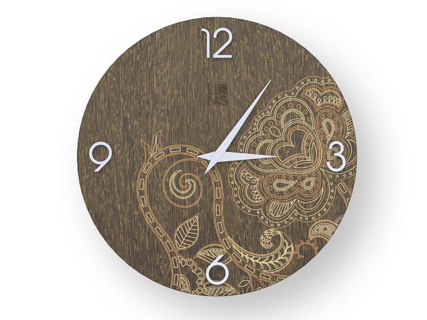 Orologio da parete in legno stuccato ROSE WARM | Orologio by LIGNIS®