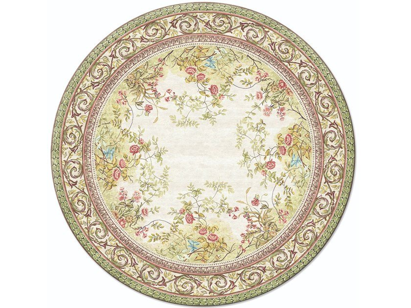 Handmade round rug ROSEMONT CIRCLE by Tapis Rouge