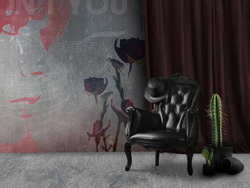 Wall tiles / wallpaper ROSES by Officinarkitettura®