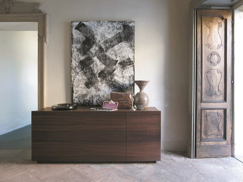 Wooden chest of drawers SHOW | Rosewood chest of drawers by Capo d'Opera