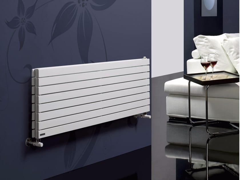 Horizontal wall-mounted hot-water radiator ROSY TANDEM OR by CORDIVARI