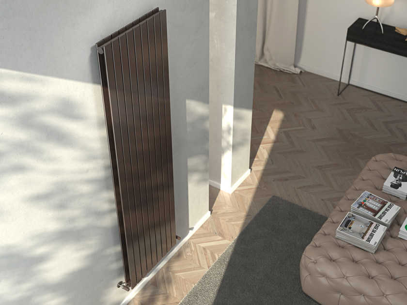 Vertical wall-mounted hot-water radiator ROSY TANDEM VT by CORDIVARI