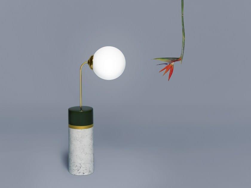 LED ceramic floor lamp ROUND AVALON | Floor lamp by Houtique