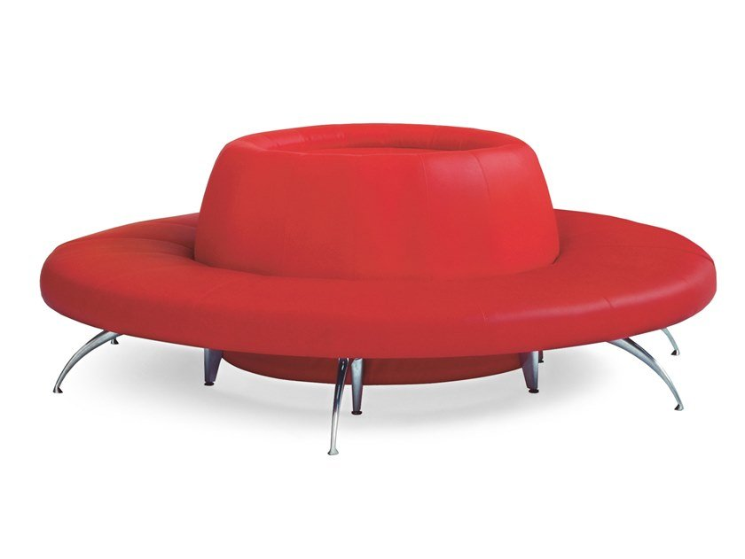 Round upholstered modular bench WAITING | Round bench by Moroso