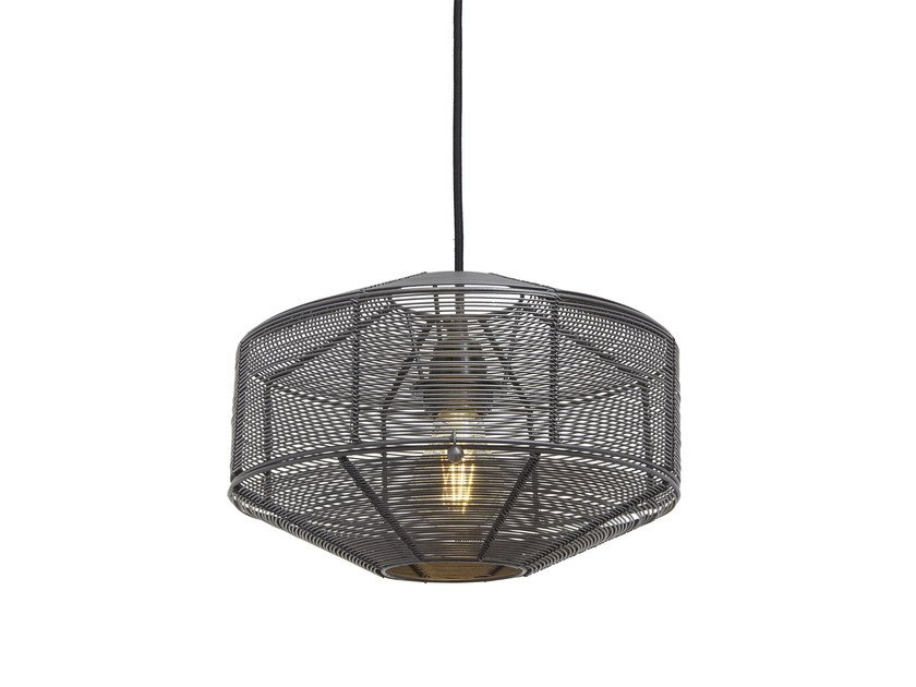 Iron pendant lamp ROUND CAGE by Industville
