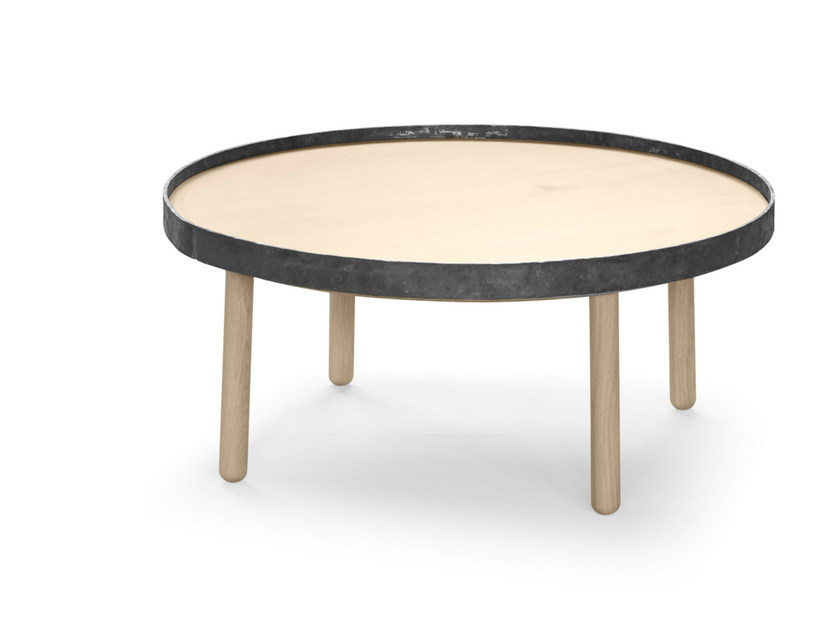Round wooden coffee table EGON | Round coffee table by ALKI