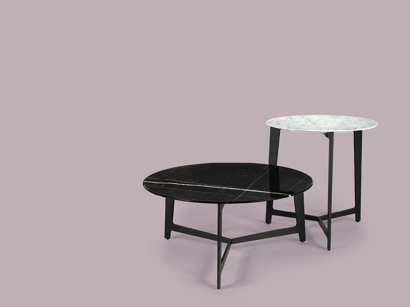 Round marble coffee table for living room B SERIES | Round coffee table by Borzalino