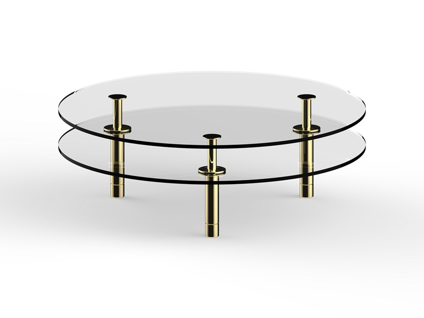 Round crystal coffee table LEGS | Round coffee table by GHIDINI1961