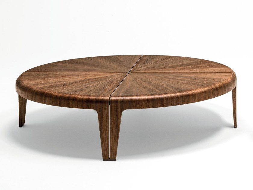 Round Wooden Coffee Table By Giorgetti