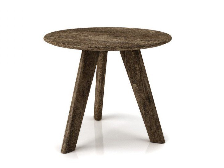 Round birch coffee table STUDIO | Round coffee table by Huppé