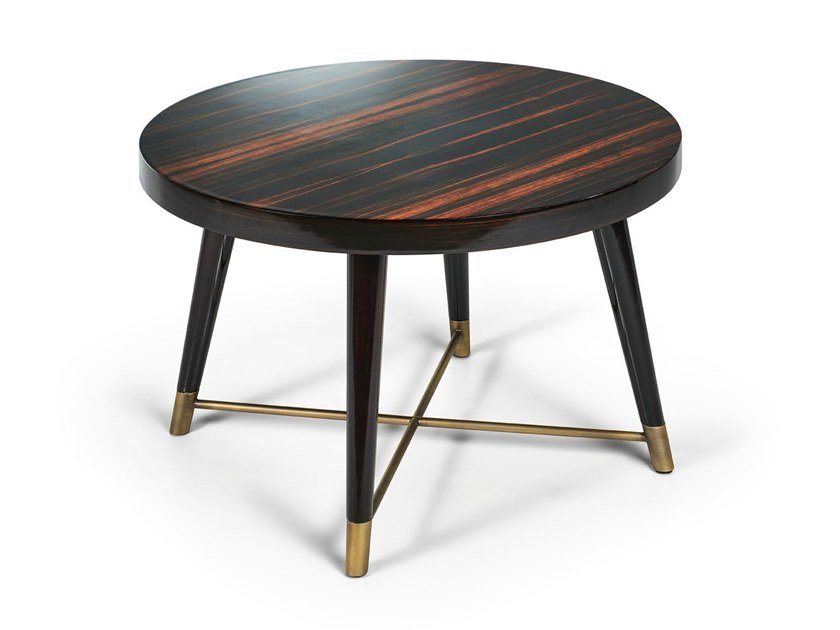 Round ebony side table PEGGY | Round coffee table by Sicis