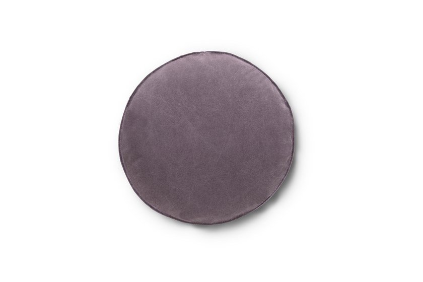 Solid-color round fabric cushion Round cushion by Felis