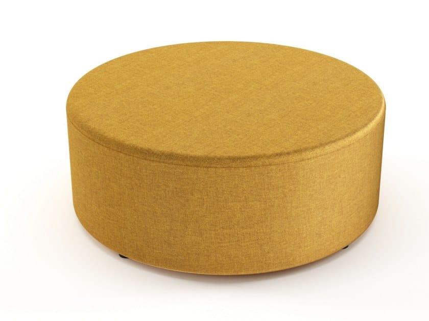 Pouf imbottito rotondo in tessuto GEOMETRY | Pouf rotondo by Grado Design