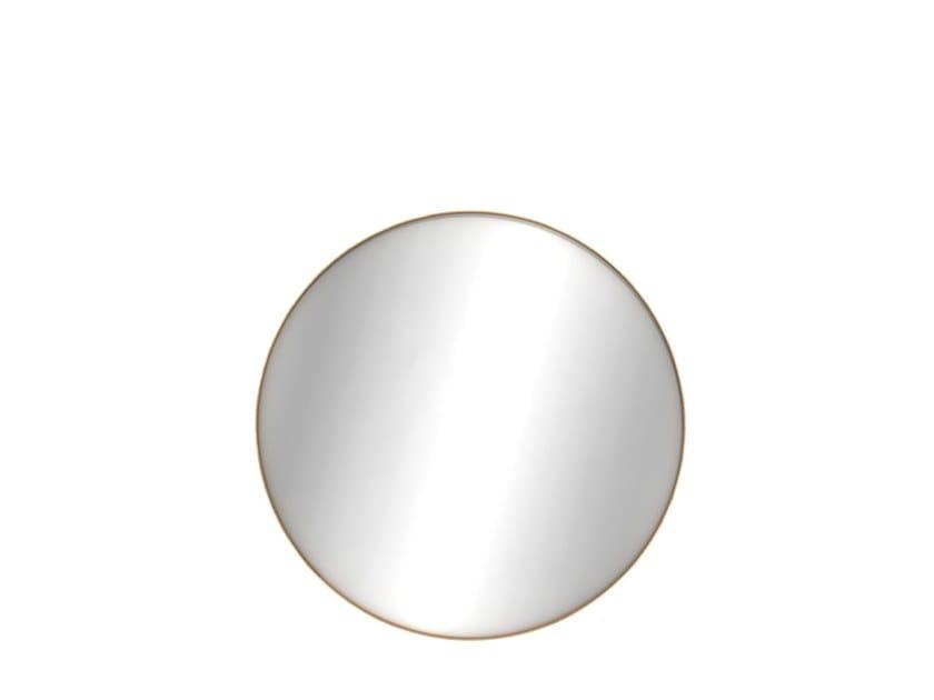 Round wall-mounted bathroom mirror OAK LAYERS | Round mirror by Ethnicraft
