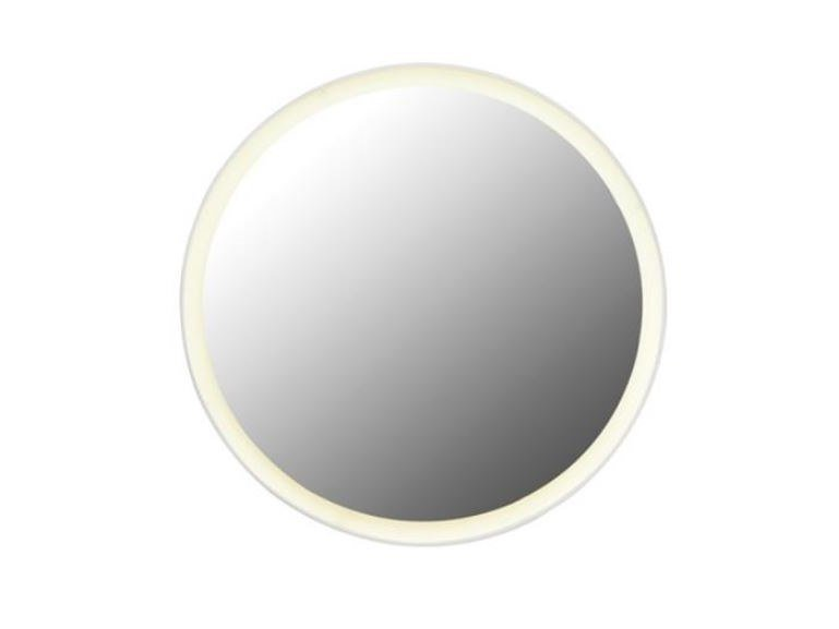 Round bathroom mirror with integrated lighting Round mirror by HEWI