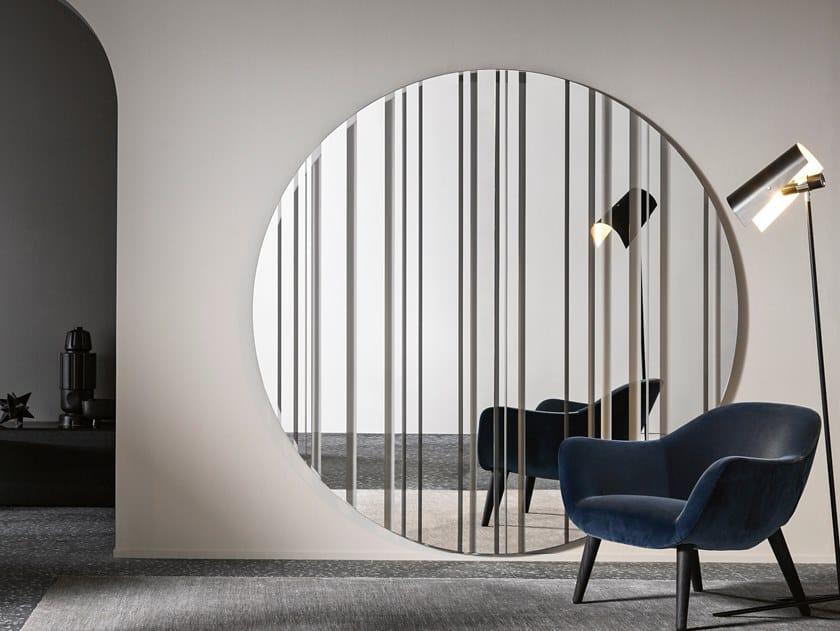 Round wall-mounted mirror BARCODE | Round mirror by Tonelli Design