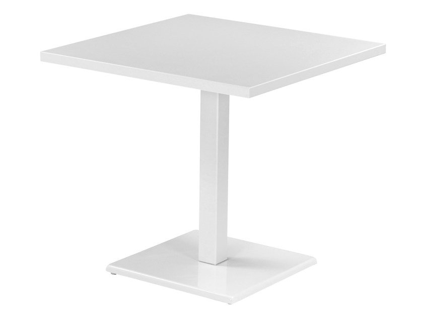 Square steel garden table ROUND   Square table by emu