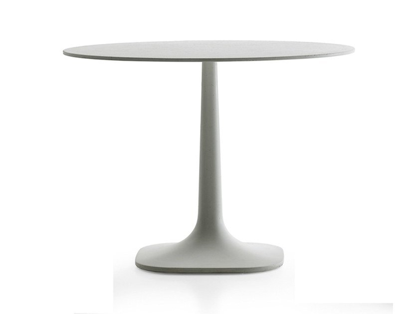 Round cement garden table FIORE | Round table by B&B Italia Outdoor