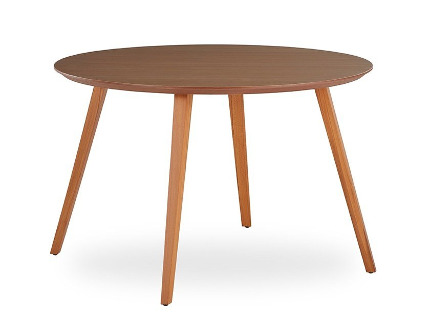 Round table WOODPLATE | Round table by B&T Design