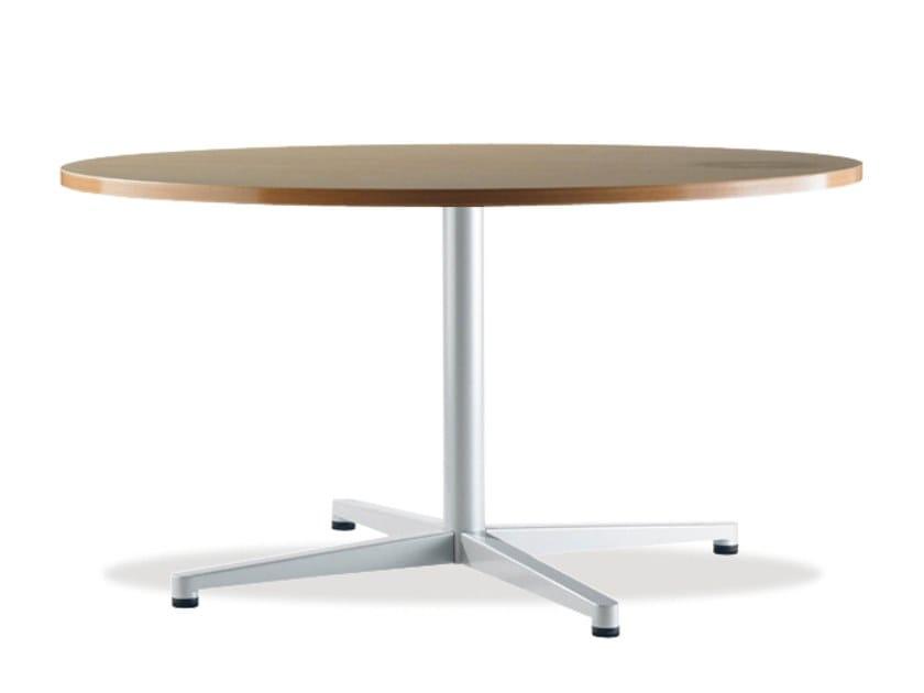 Runder Tisch mit 4-Speichen-Kreuzfuss TWIN | Runder Tisch by Casala