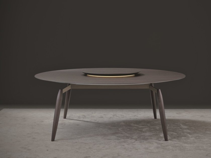 Round wooden dining table TEKTON | Round table by Natevo