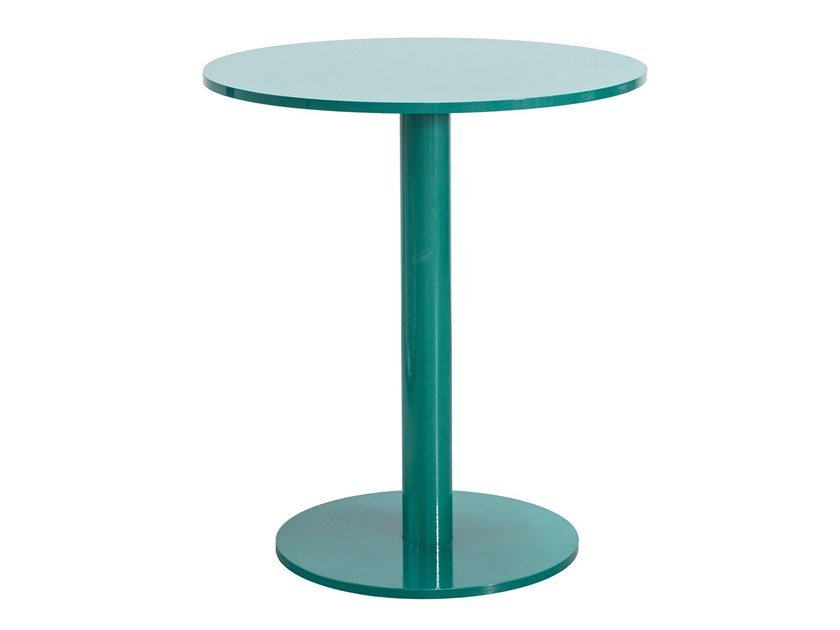 Lacquered round aluminium table ROUND TABLE S | Lacquered table by Valerie_Objects