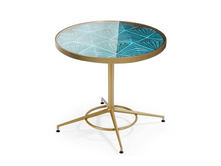 Round ceramic table MAZE | Round table by Theia