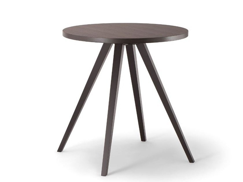 Round solid wood table MILANO | Round table by Tirolo