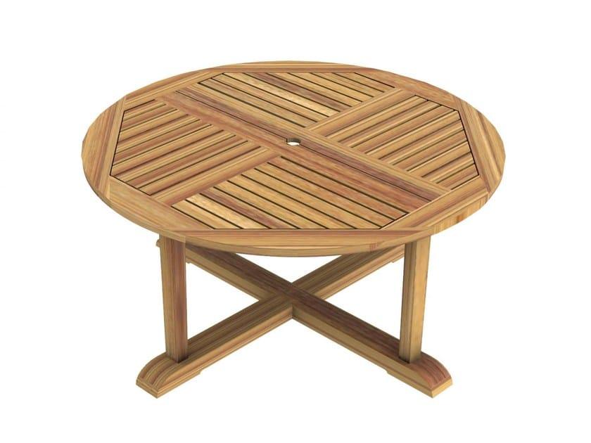 Round teak garden table MILTON | Round table by Unopiù