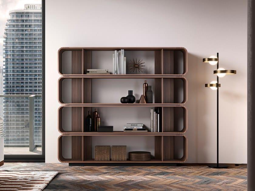Libreria a giorno bifacciale in legno ROUND UP 180 by Barba design