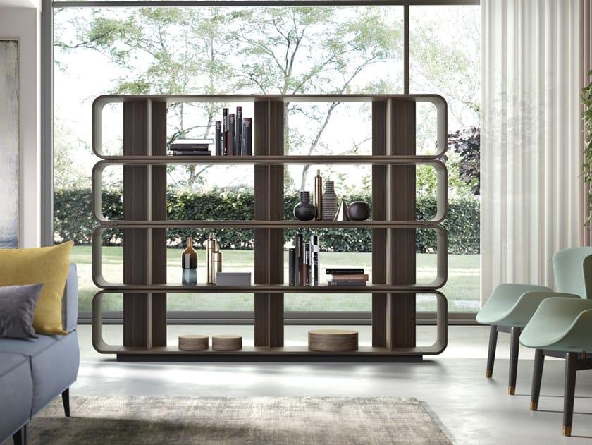 Libreria a giorno bifacciale in legno ROUND UP 240 by Barba design