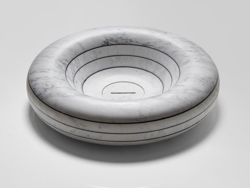 Lavabo da appoggio rotondo in marmo RIGATI   Lavabo rotondo by Antonio Lupi Design