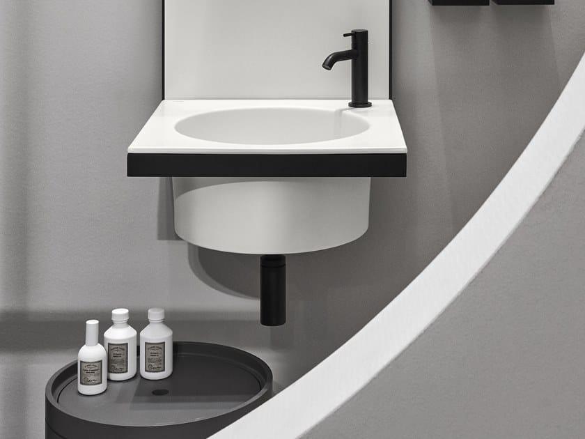 Round single wall-mounted ceramic washbasin ELLE | Round washbasin by Ceramica Cielo