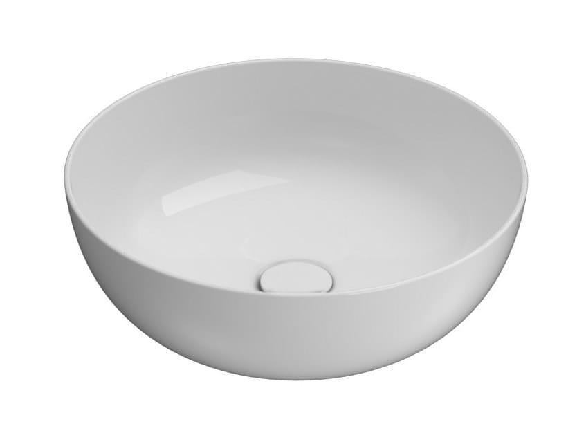 Countertop round Globothin® washbasin T-EDGE | Round washbasin by Ceramica Globo