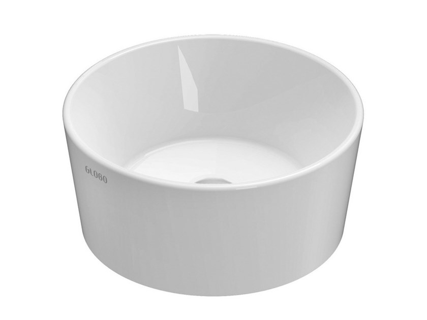 Countertop round ceramic washbasin FORTY3 | Round washbasin by Ceramica Globo
