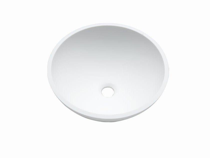 Undermount round Krion® washbasin BASIC | Round washbasin by Systempool